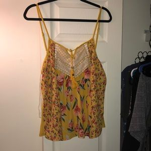 Tops - Marigold Floral Tank (Like New!!)
